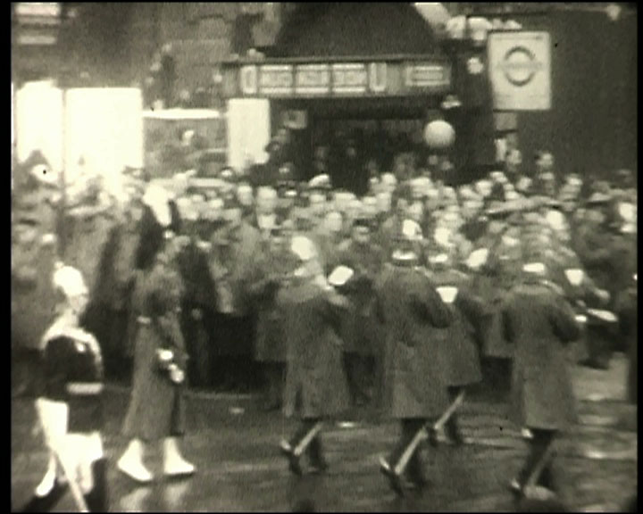 A still from Dog at Play; Royal Funeral Procession (1936)