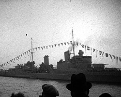 A still from [Coronation Naval Review; Holiday; Hay Farm] (1937)