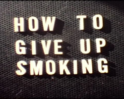 A still from the opening titles of How to Give up Smoking (ca. 1960s)