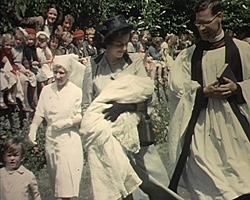 A still from [Brabourne Family Celebrations; Christening] (1946-1950)