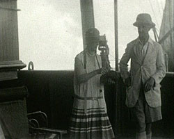 A still from 'Boat Trip Along the Suez Canal' (1929)