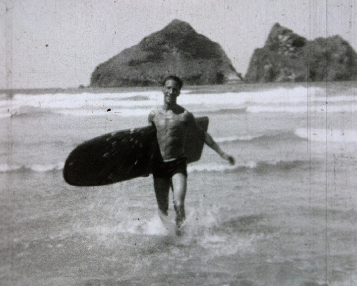 A still from [The Big Board at Newquay] (1930s)