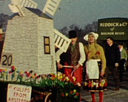 A Still from [Stubble fire; Pagham Pram Race] (1960?)