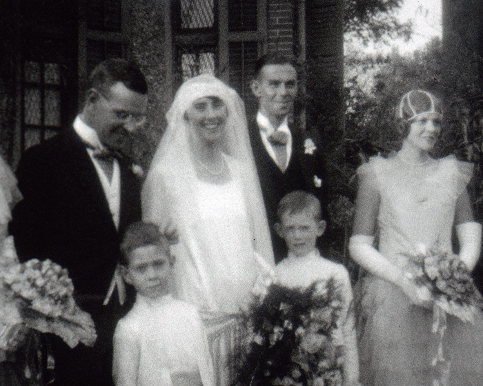 A still from '[Simpsons Wedding in Shanghai Cathedral]' (ca.1928)