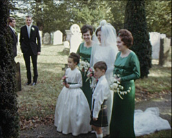 A still from [The Wedding Day] (1965) - wedding guests