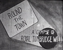A still from 'Round the Town' (1950s) - showing the film title