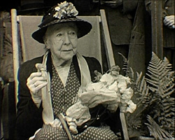 A Still from [Festival of Britain at Whitstable and Other Year Events] (1951) - elderly lady in a deck chair