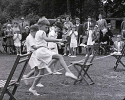 A still from [Great Walstead School; Harvest Festival; Veterans Party; Sunday School Outing; School Sports Day] (1950s)