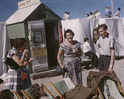 A still from [RHS Chelsea Flower Show; Church Seaside Outing] (1956-1959)