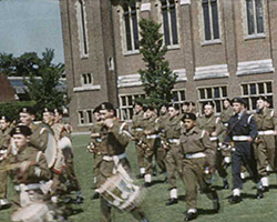 A still from [St Lawrence College CCF; Harvest Festival; Bournemouth; Silver City Aircraft at Manston; Cricket at Hastings] (1959-1960)