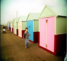 A still from Hillside Beach Hut Film (2010)}
