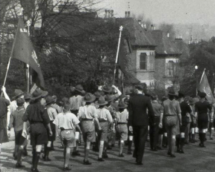 [Forest Hill Visit to London; Scout Parade; Summer Camp] (1941?)