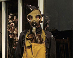 [Dence Park Garden; Gas Mask Demonstration] (1942-1943)