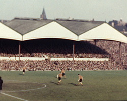 A still from [Wolverhampton Wanderers Football Match at Molineux Stadium] (1949)